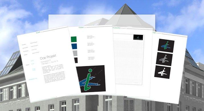 Im CD Manual wurden die Corporate Design Richtlinien für die interne und externe Kommunikation inkl.von Beispielen und