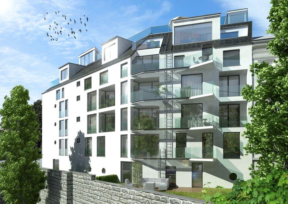 "3D Aussenvisualisierung ""Döbling 100"" Architektur in 3D"