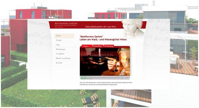 Projektwebsite für Beethovens Garten