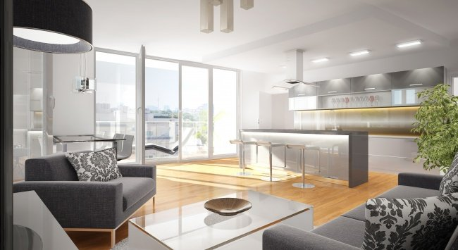 3D Innenvisualisierung, 3D Design Rendering, Immobilien-Projekt Bunsengasse 4; 1210 Wien - 2012