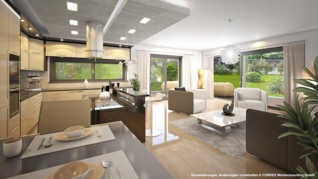 3D Visualisierung, Rendering, Innen Design Gartenwohnung