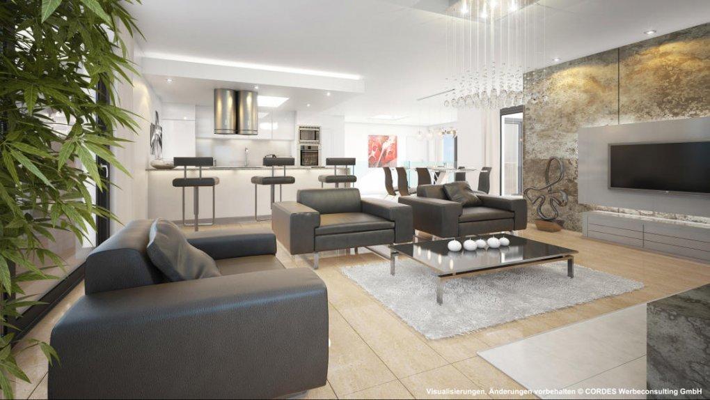 3D Visualisierung, Rendering, Innen Design Dachgeschoss Campo Rosato