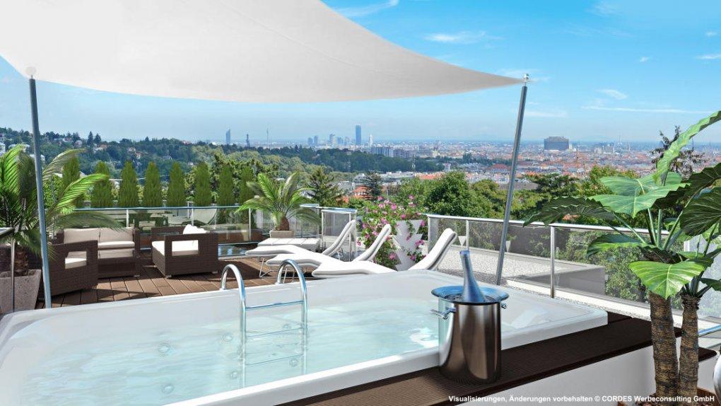 3D Visualisierung Terrasse Panorama Wien Campo Rosato