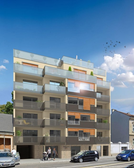 3D Renderings, Architektur in 3D in der Donaufelder Strasse 241