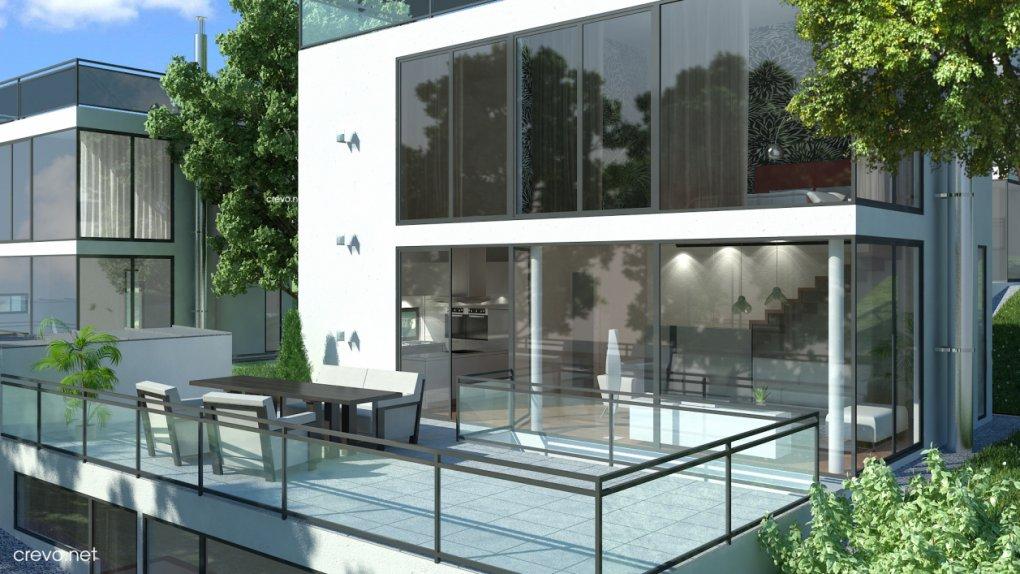 3D Außenasicht Terrasse