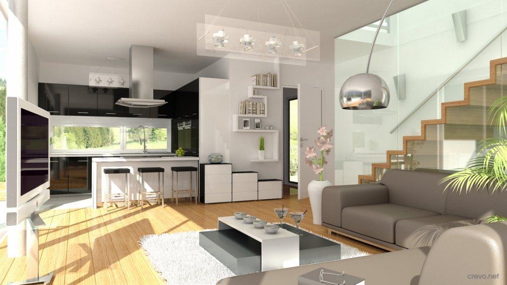 3D Innenvisualisierung Wohnzimmer Hackenbergweg 51