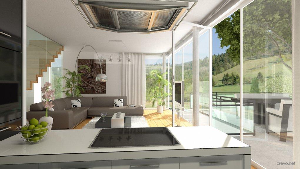 3D Innenvisualisierung Wohnzimmer