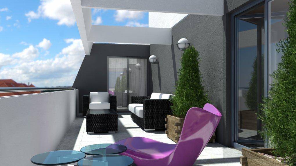 Hockegasse | 3D Außenvisualisierung | Aussenansicht | Terrassenansicht | Architektur in 3D
