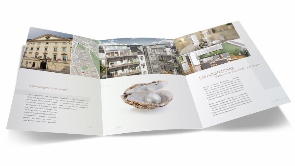 Verkaufsfolder / Übergabemappe inkl. Grafik, Texte, Fotos und 3D Visualisierungen