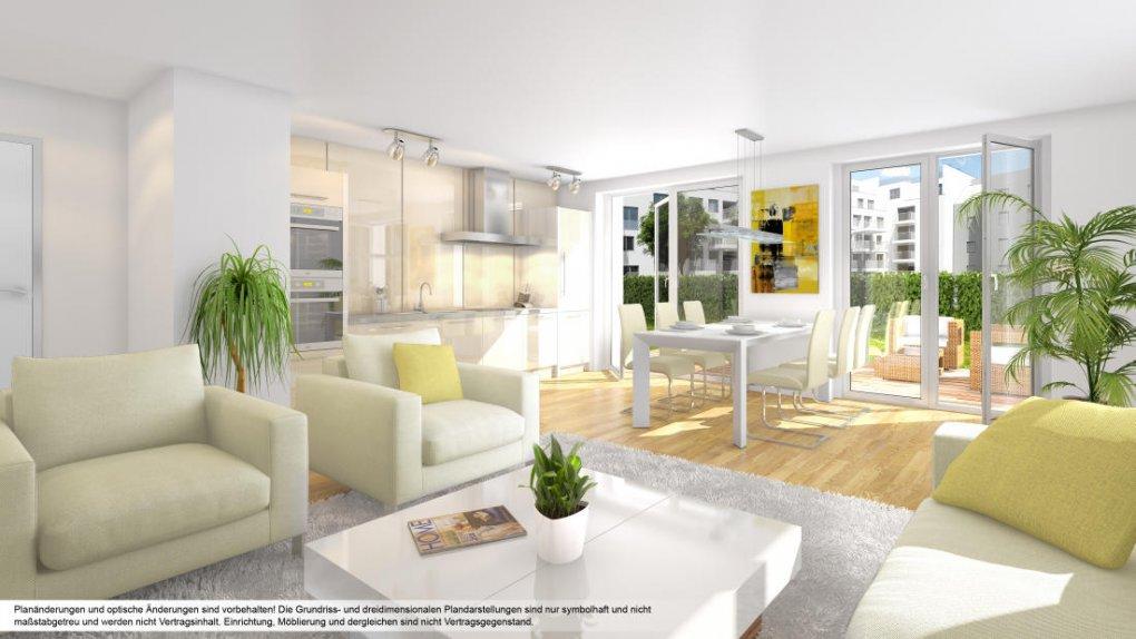 Projekt im 21. Bezirk, Sebastian-Kohl-Gasse/Andreas-Hofer-Str. Innenvisualisierung 3D Renderings