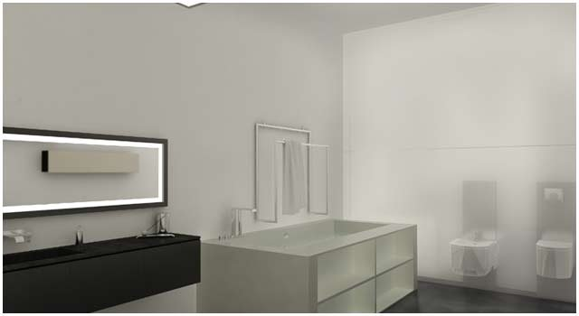 Luxus Badezimmer 3D Visualisierung