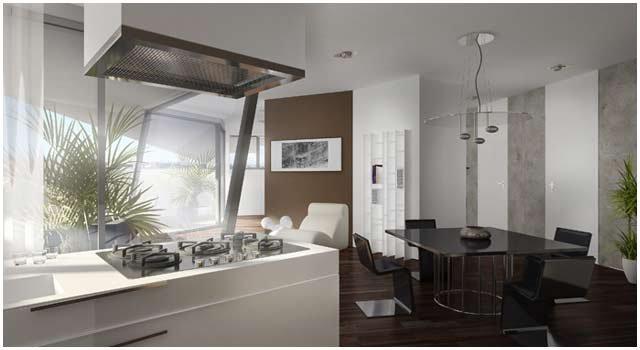 Luxus Design-Küche 3D Visualisierung