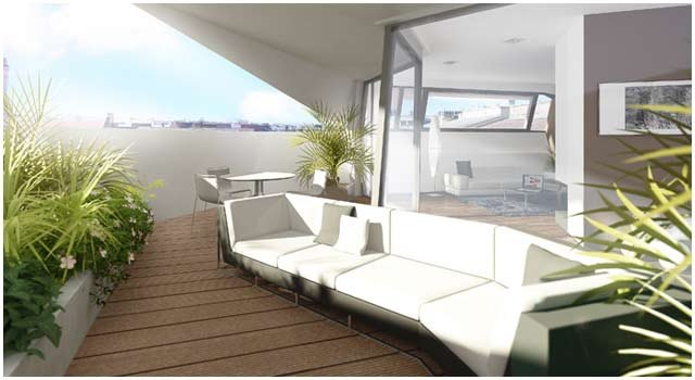 Luxus Design-Wohnzimmer 3D Visualisierung