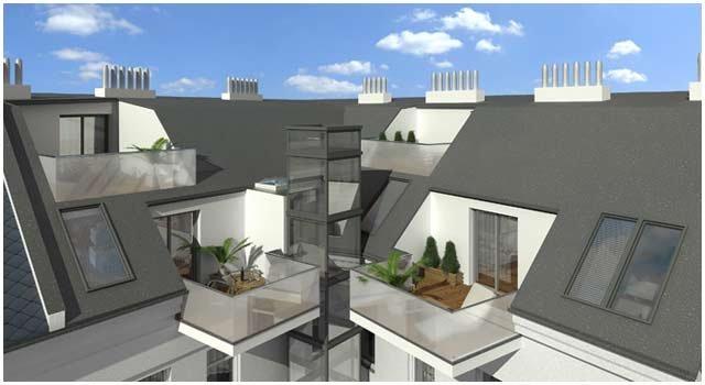 Terrassenansicht 3D Visualisierung