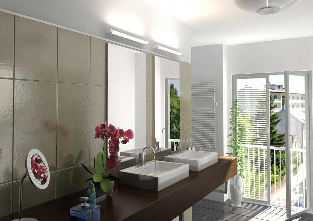 3D Innenvisualisierungen Badezimmer Mölkerhof