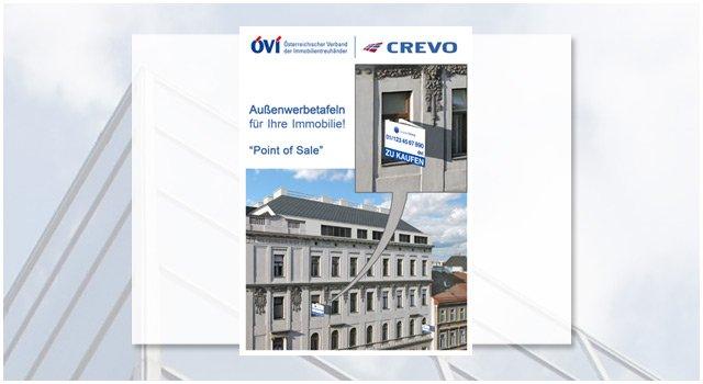 Gestaltung und Produktion der ÖVI Fenstertafeln > die sogenannten Nasen als Werbetafeln für die Fenster.