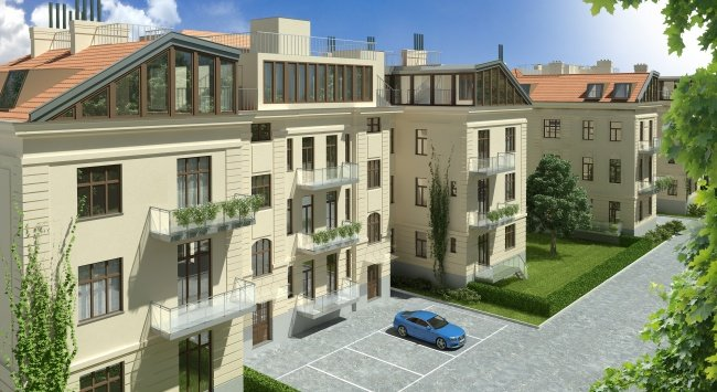 Architektur in 3D, Renderings, 3D Visualisierungen in der Stranzenberggasse 7a