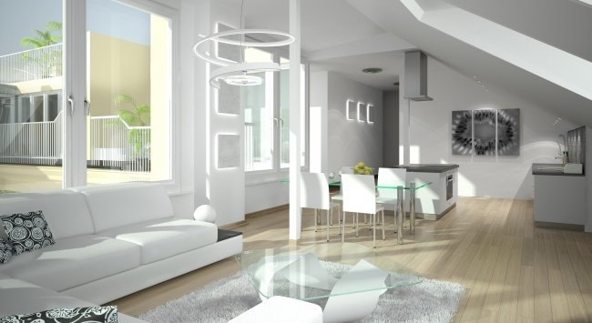 Renderings, 3D Visualisierungen in der Stranzenberggasse 7a
