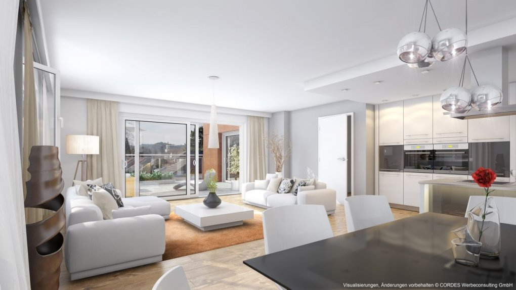 3D Innenvisualisierung Wohn / Küche Rodaun