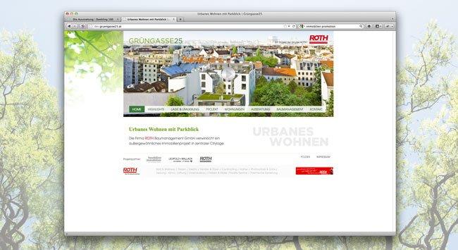 Projektwebsite: Grüngasse25