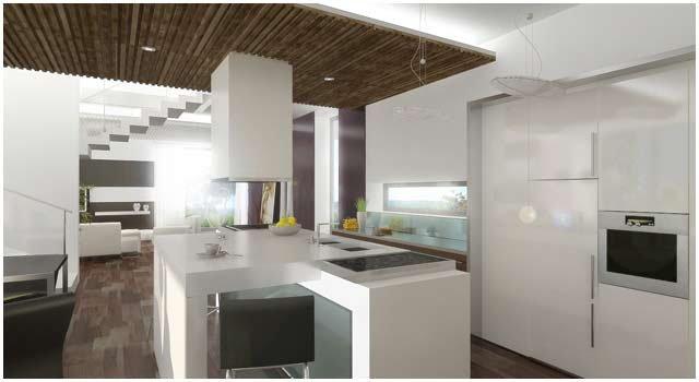 3D Küche aber auch das Wohnzimmer wurden in unserem Design entwickelt und als 3D Visualisierungen / Renderings umgesetz