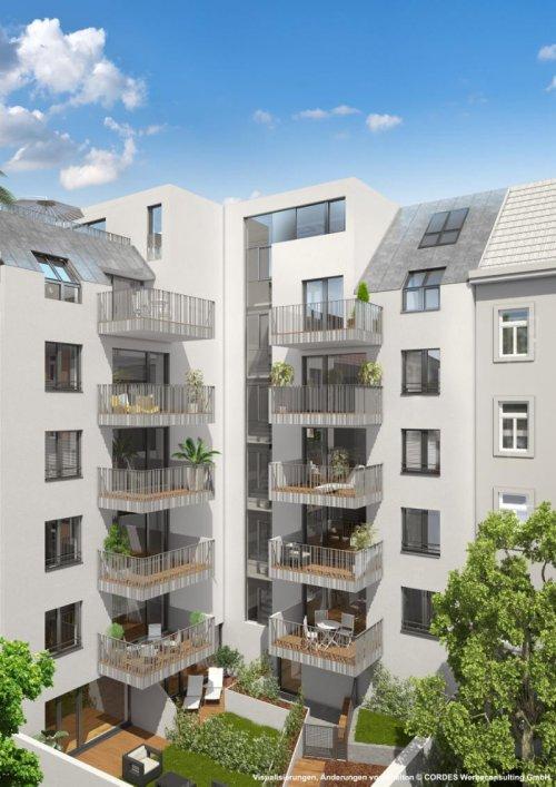 Schopenhauerstr. 70 die Hofansciht für JP Immobilien, 3D Visualisierungen, Architektur in 3D, Renderings für das Proje