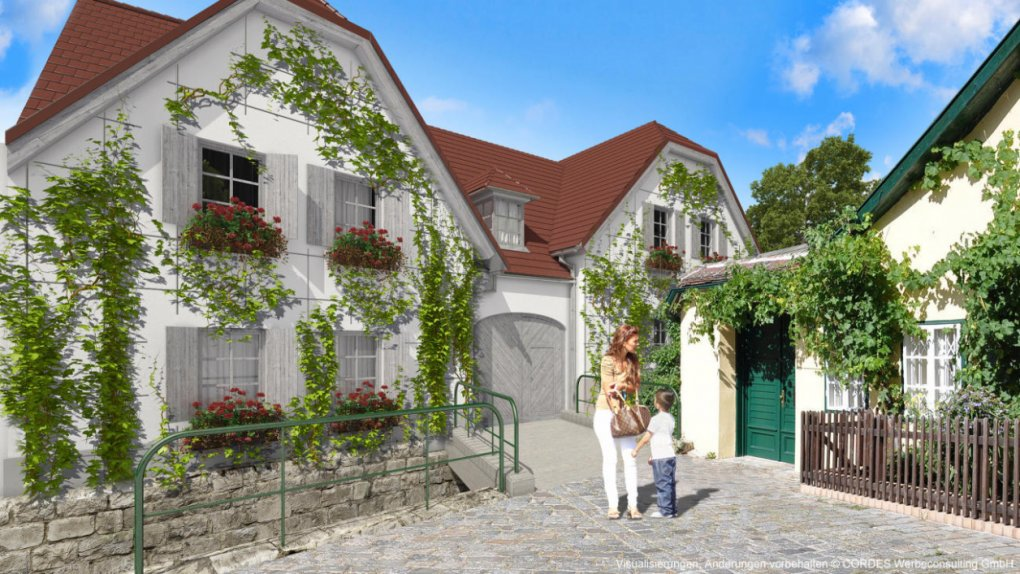 Rendering Außenvisualisierungen Immobilienprojekt Vineyards-Homes