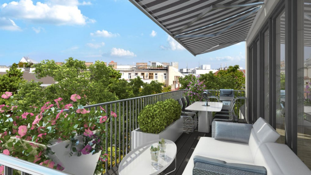 3D Rendering Terrassenperspektive Panorama Wien