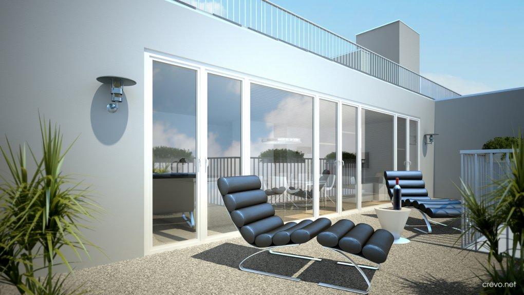 3D Visualisierung Tagesansicht Terrasse