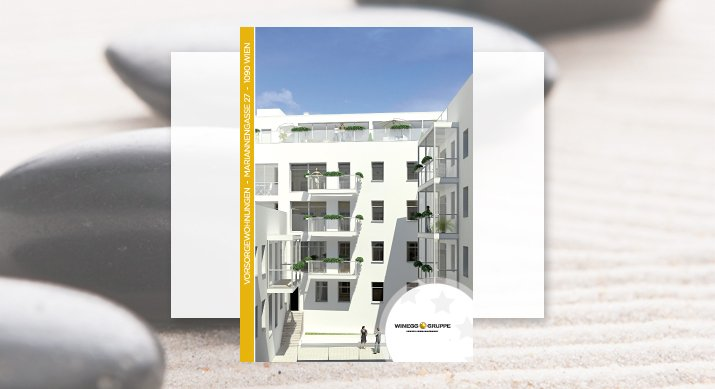 """Projekt """"Mariannengasse27""""Gestaltung: 3D-Visualisierungen, Projektwebseite inkl. einem Grundriss-Navigator und Produktio"""
