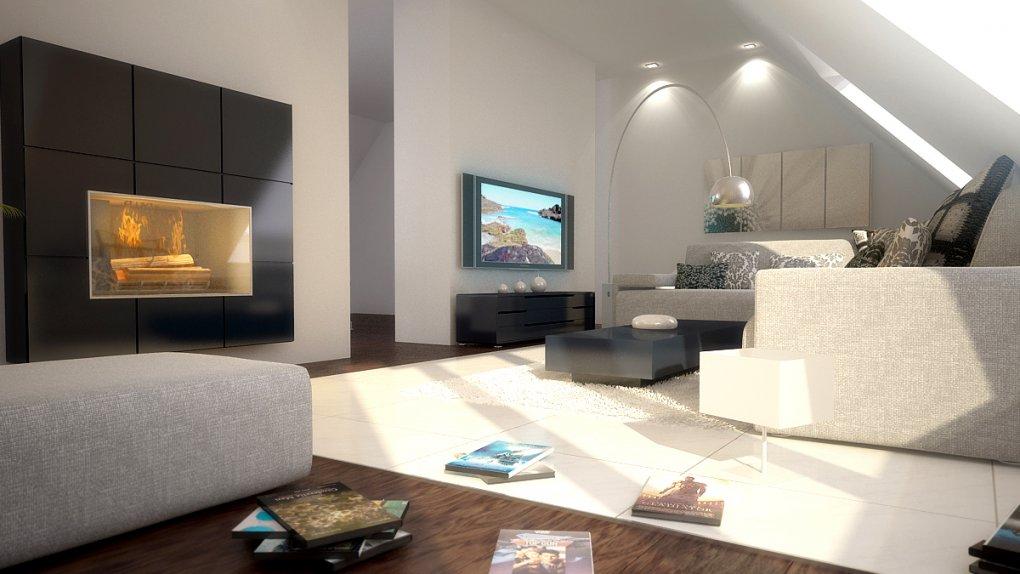 Wohnzimmer 3D Visualisierung