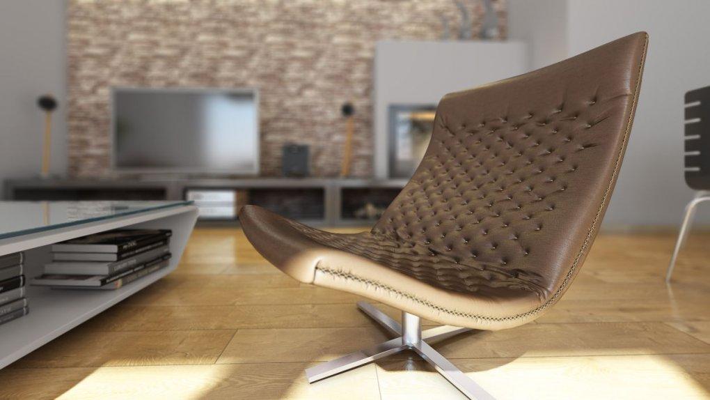 Innenperspektive 3D Rendering Ausstattung