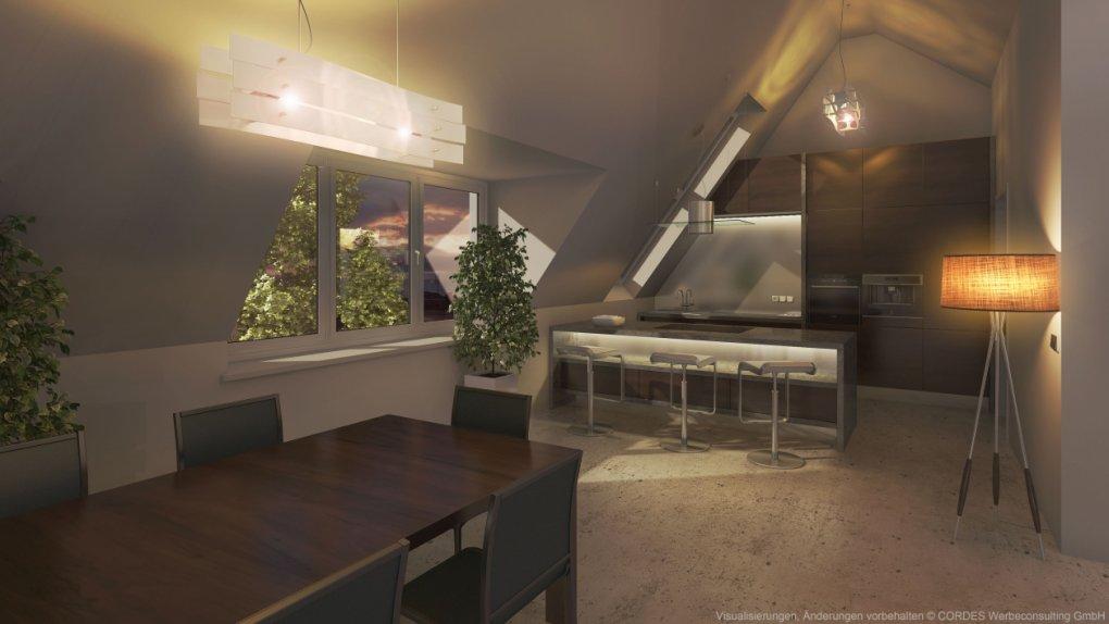 3D Küche Penthause Rendering