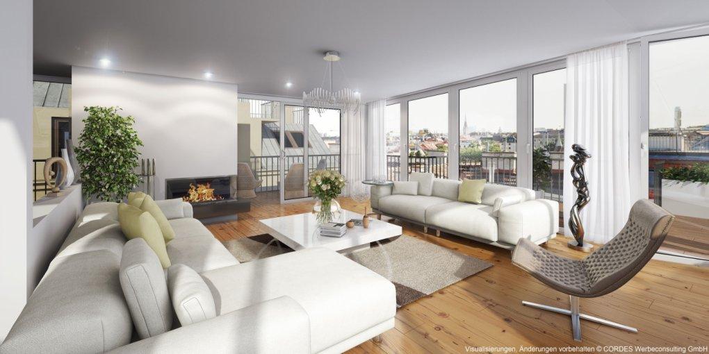 3D Rendering Terrassenwohnung