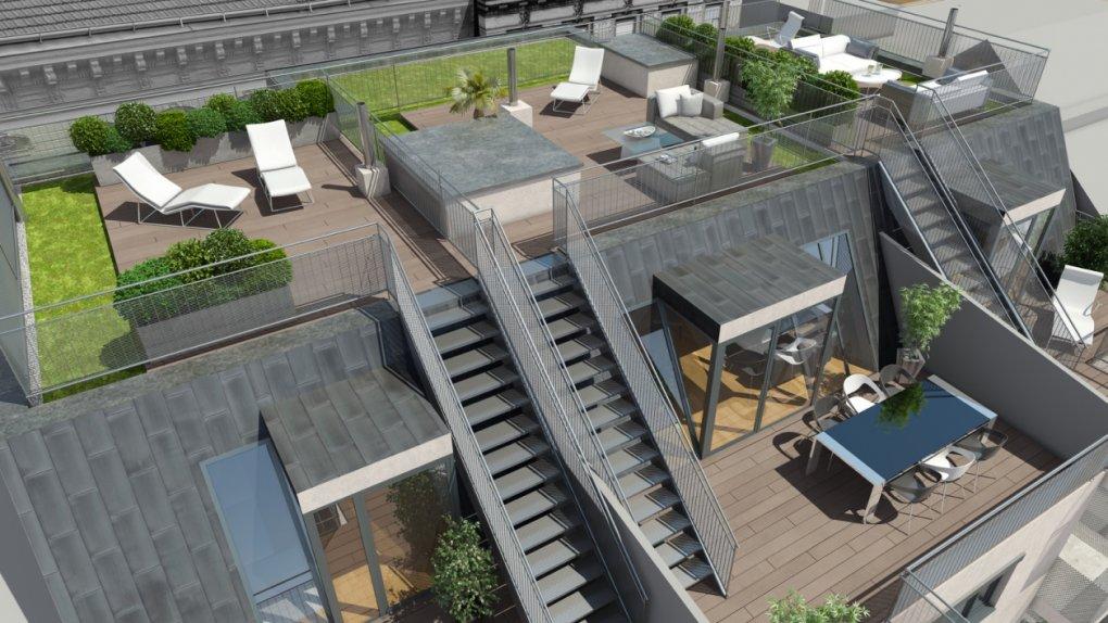 3D Rendering Terrassen Zieglergasse