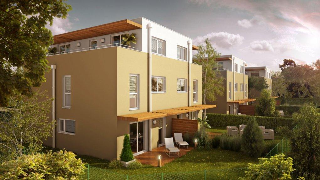 3D Rendering außen Immobilien-Projekt Brunn am Gebirge