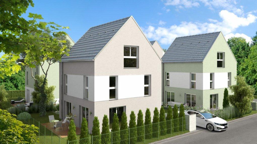 3D Rendering außen Immobilien-Projekt Rannersdorf