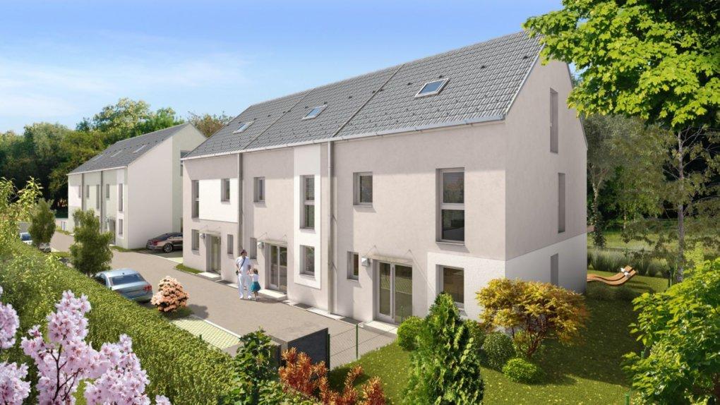 3D Rendering außen Immobilien-Projekt Englisch-Feld-Gasse